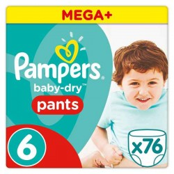 Couches jetables Pampers...