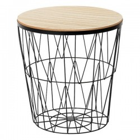 Table d'Appoint Noir 111973